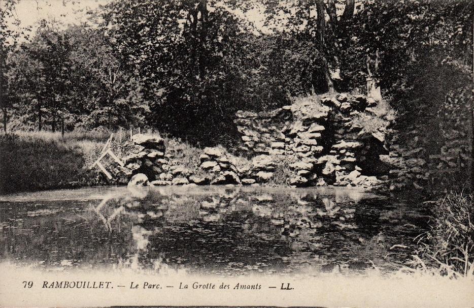 Cartes postales anciennes de parcs fabriques le jardin for Jardin anglais rambouillet